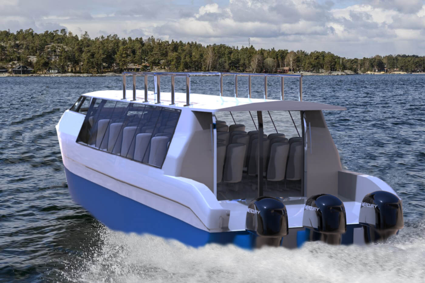 enclosed water bus for sale